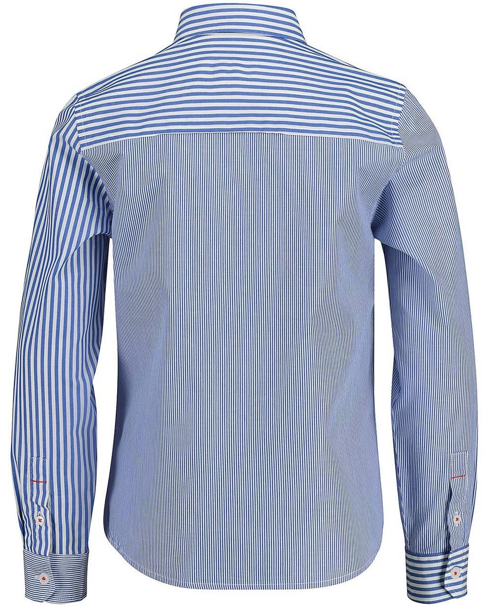 Hemden - Aqua - Gestreiftes Hemd
